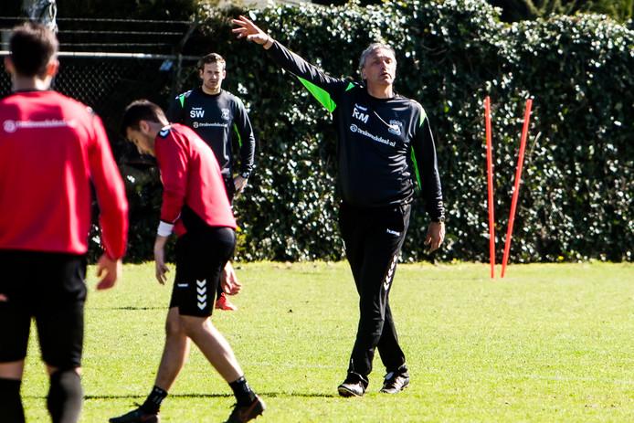 Robert Maaskant op de eerste training met de Go Ahead Eagles.