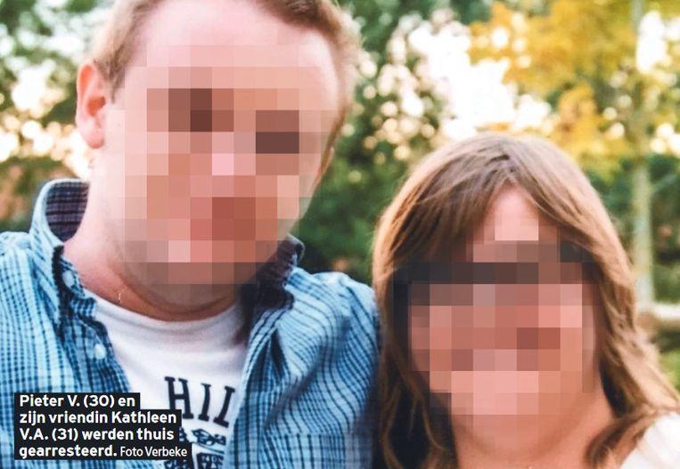 Pieter V. (30) en zijn vriendin Kathleen V.A. (31) werden thuis gearresteerd.
