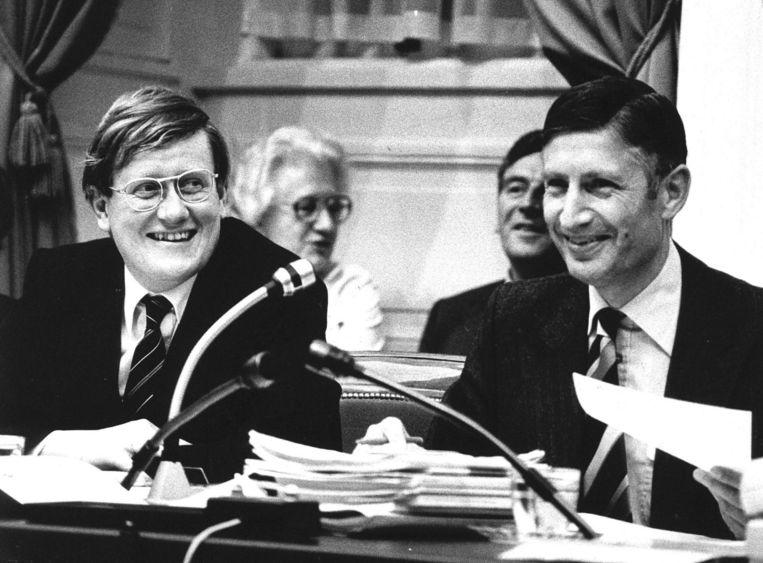 Hans Wiegel in 1979 als vice-premier naast premier Van Agt. Beeld Anp