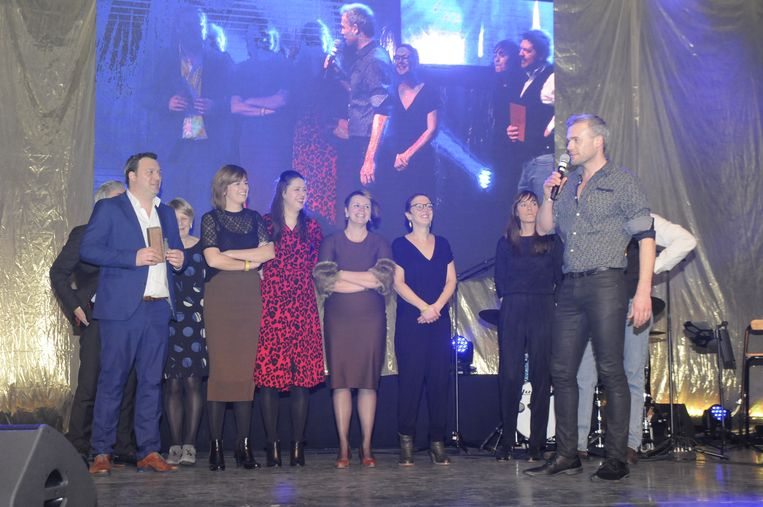 Een delegatie uit Hakendover mocht de award in ontvangst nemen.