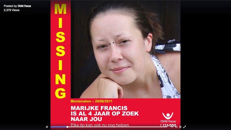 Marijke Francis was 21 toen ze op 29.06.2011 verdween in Montenaken (Limburg).