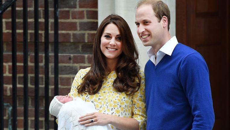 Kate en William met hun dochter Beeld epa