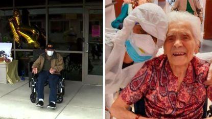 Twee 104-jarigen zijn oudste patiënten die het coronavirus verslaan