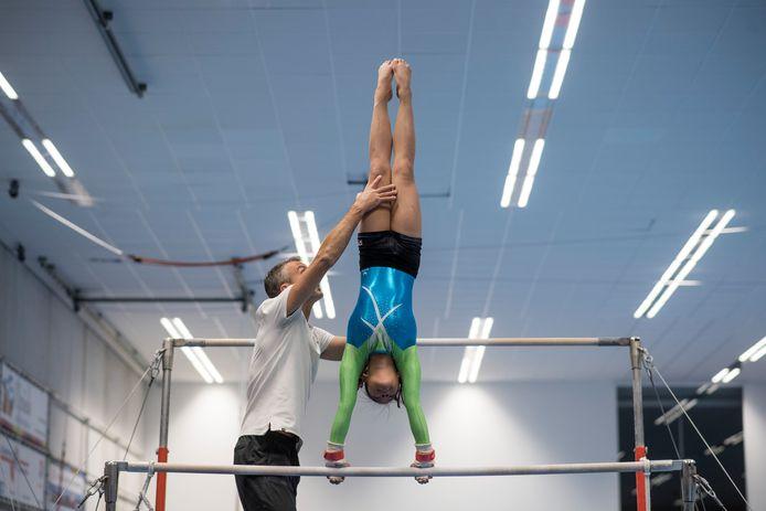Training bij de stichting Topturnen Oost-Nederland.  Foto uit 2016.