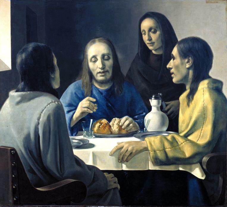 'De Emmaüsgangers', een nep-Vermeer van de hand van Van Meegeren. Beeld  Boijmans van Beuningen