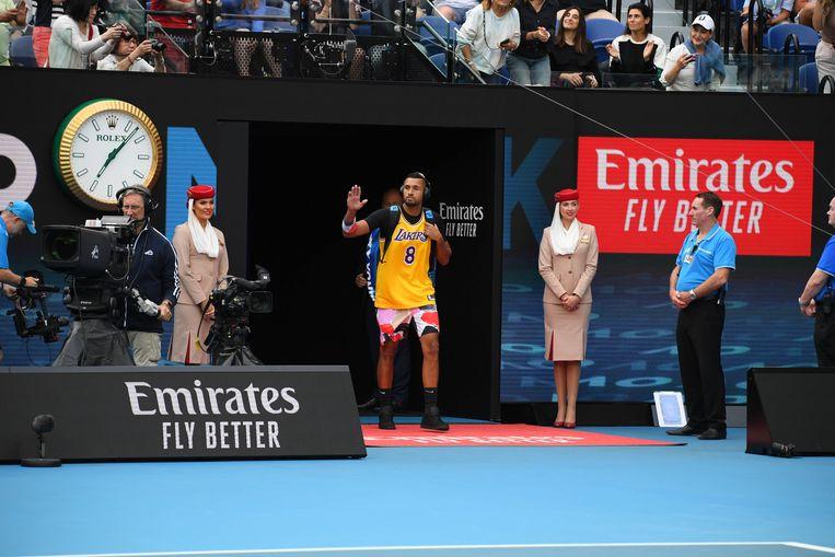 Australische tennisser Nick Kyrgios. Beeld BSR Agency