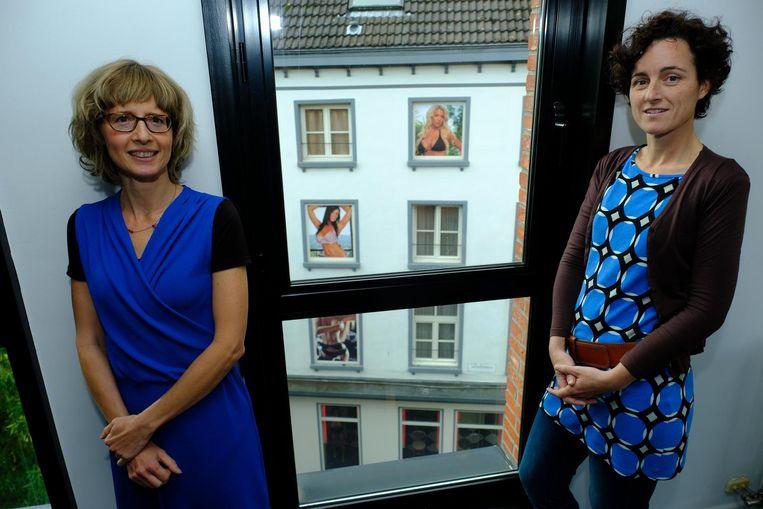 Algemeen coördinator Katleen Peleman van Ghapro en dokter Heleen Van Mieghem.