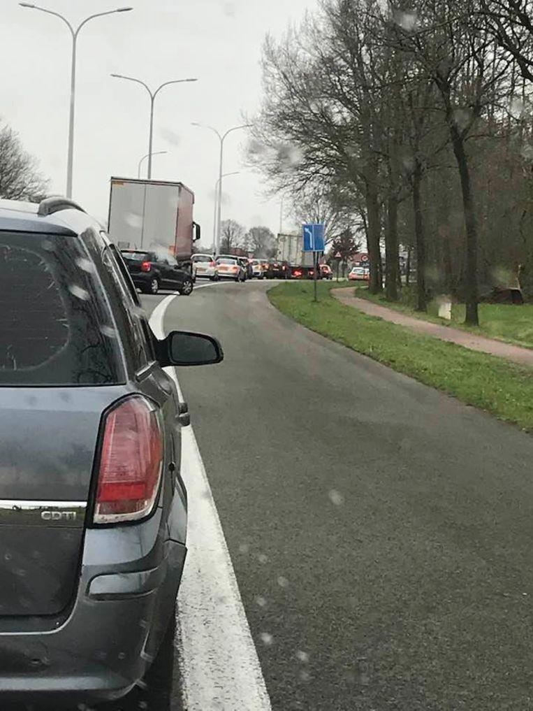 De politie controleert onder meer in Essen aan de grensovergang.