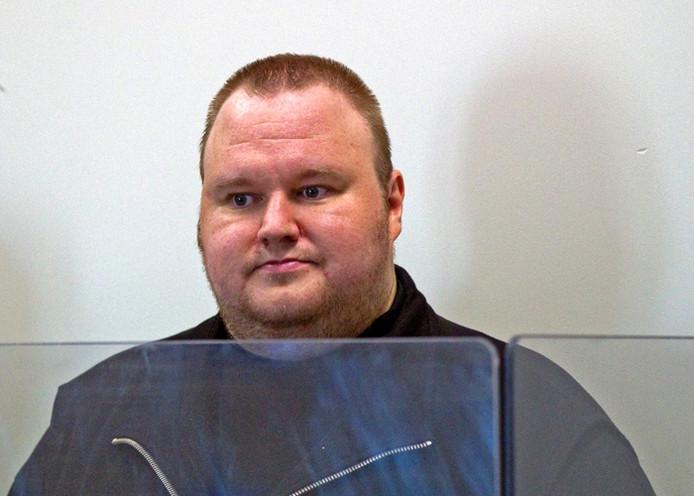 Kim Dotcom, geboren als Kim Schmitz, de baas van Megaupload. Foto: EPA