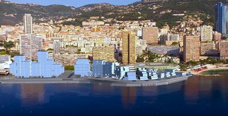 Uitzicht van de skyline zoals het in 2025 moet zijn.