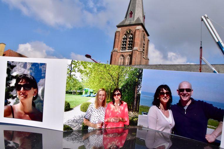 Op de gedachteniskaart prijken foto's van Veronique, samen met haar man Wim en dochter Romy.