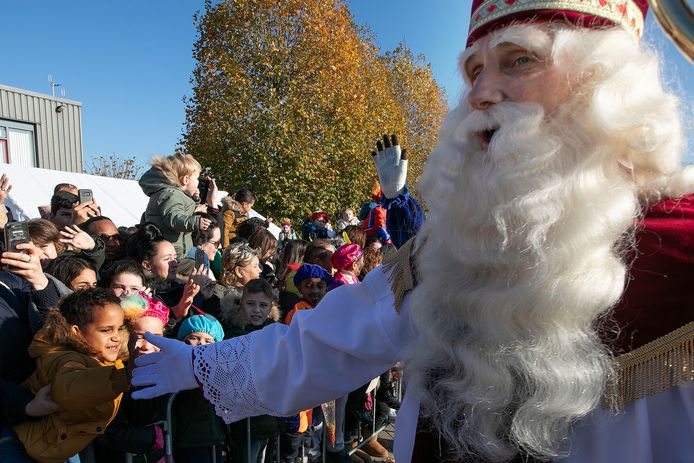 De intocht van Sinterklaas in Eindhoven. archieffoto