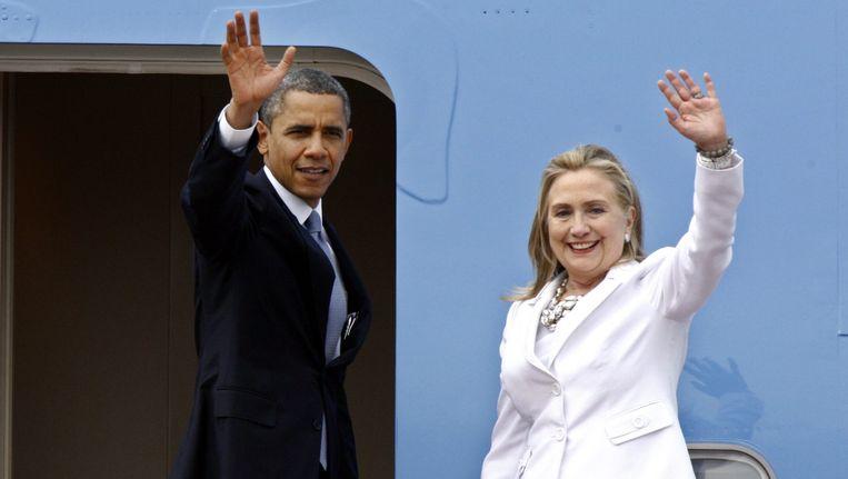 Barack Obama en Hillary Clinton Beeld EPA