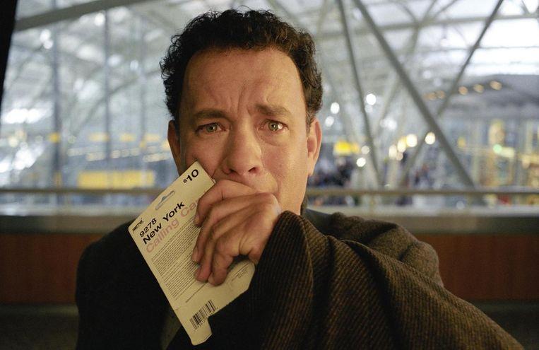 Tom Hanks in de film The Terminal (Steven Spielberg, 2014). Beeld