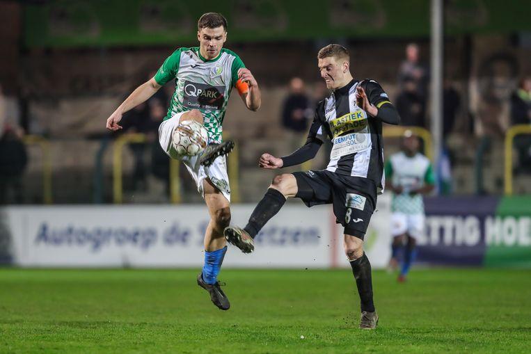 Ruben Janssen (l.) en Hasselt gingen onderuit tegen Aalst.