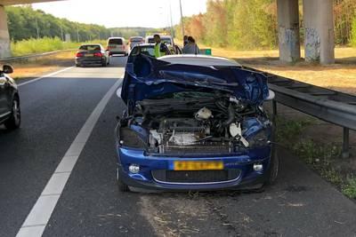 Automobiliste komt met de schrik vrij na ongeluk op de A27
