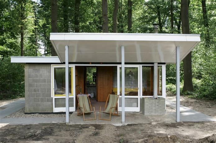 Het vakantiehuisje van Rietveld in het Openluchtmuseum in Arnhem. Foto: ANP