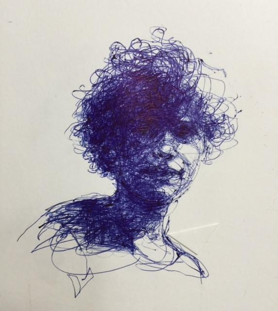 Portret  'I am 18 now' gemaakt door Anita Vermeeren