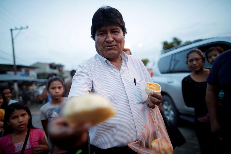 Evo Morales, de voormalige president van Bolivia. Beeld REUTERS