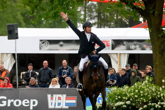 Leopold van Asten tijdens de vorige editie van Concours Hippique Mierlo.