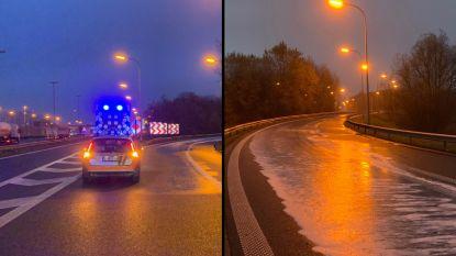 Oprit E403 in Brugge afgesloten door olielek