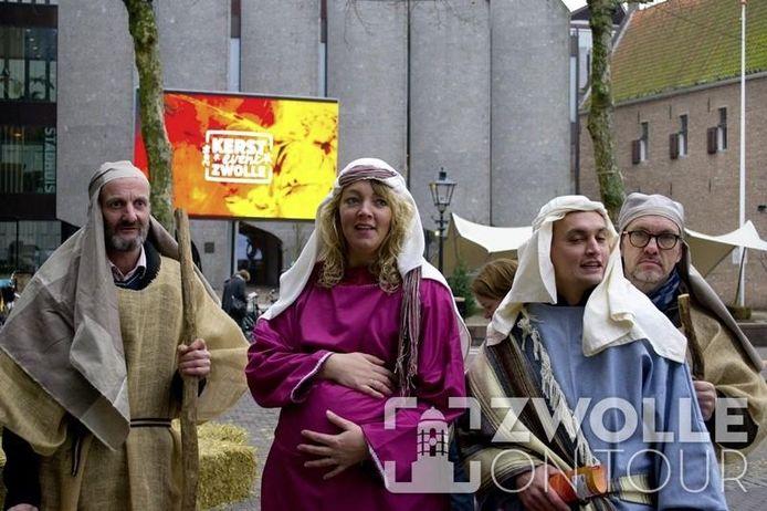 Figuranten bij een eerdere editie van het Kerst Event in Zwolle.