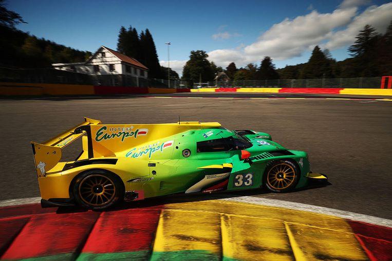 De auto van ELMS van het team van Sam Dejonghe .