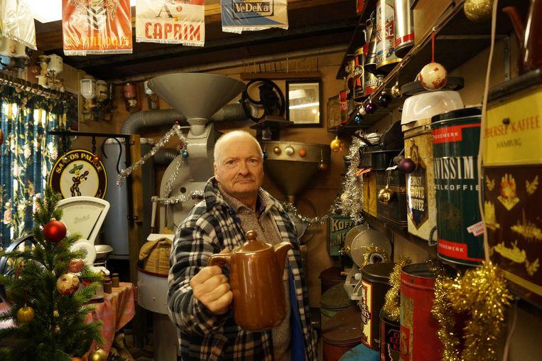 Lichterveldenaar Jean-Pierre Lisabeth woont in een koffiemuseum.