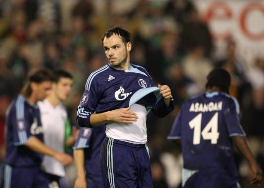 Heiko Westermann of Schalke in het shirt van Schalke in 2008.