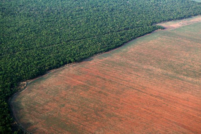 Vue aérienne du Mato Grosso, à l'ouest du Brésil, en 2015