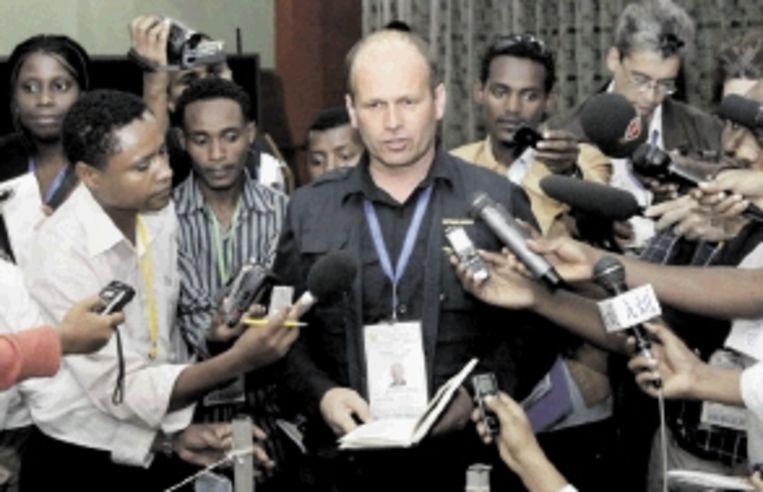 Europarlementariër Thijs Berman in Addis Abeba in mei. ( FOTO EPA) Beeld EPA