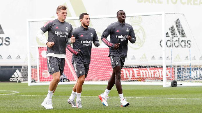 Eden Hazard a participé à l'entraînement collectif dimanche.