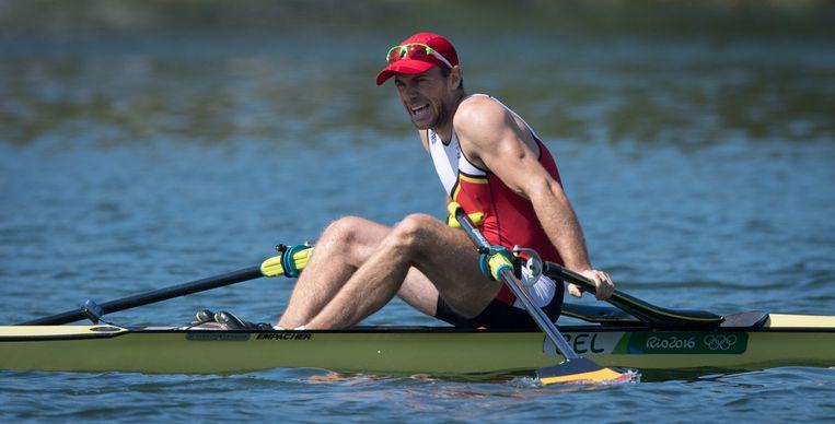 Hannes Obreno op de Spelen in Rio.