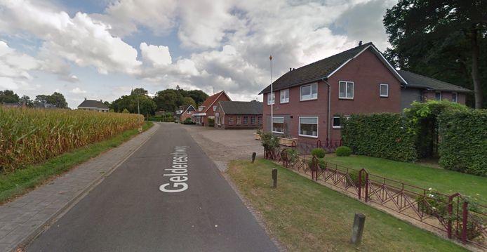 De Geldereschweg in Meddo, Winterswijk.