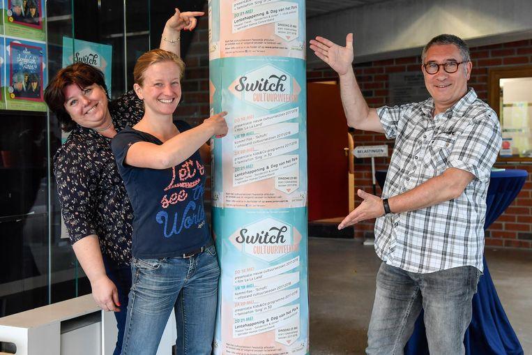 Katrien Van der Jeugt, Brigitte Verelst en Pat Vanderhaeghe nodigen uit voor cultuurweekend Switch.