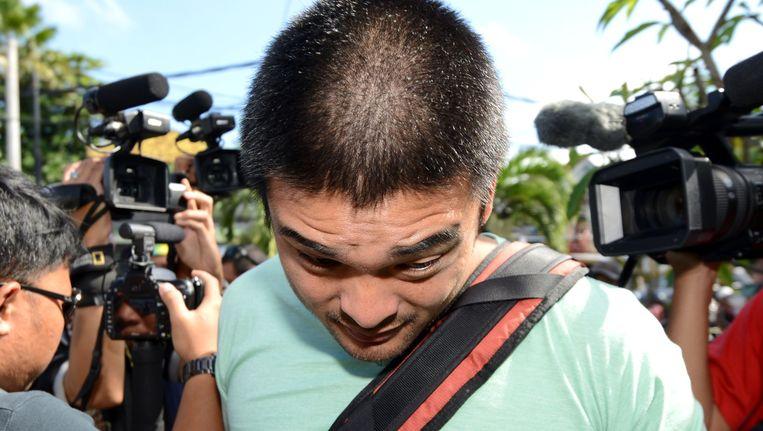 Michael Chan, de broer van Andrew Chan kwam zijn broer vandaag bezoeken in de gevangenis in Bali.