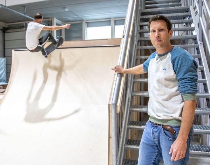 Bart Maljers is een van de drijvende krachten achter de nieuwe indoor skatebaan in Zwolle: ,,Ik hoop dat het een inspirerende plek wordt.''