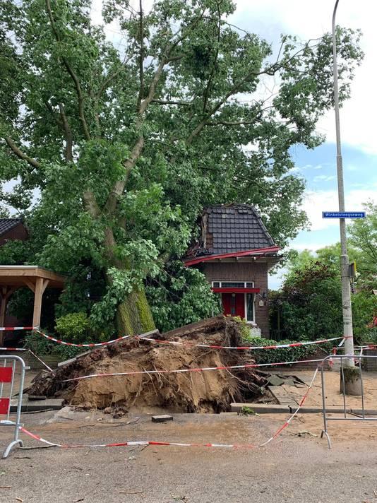 Natasja maakte deze foto vandaag van de schade in de Winkelsteegseweg.