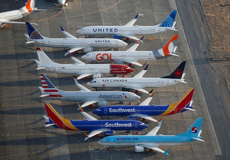 Alle Boeing 737 MAX-toestellen staan tot nader order aan de grond.