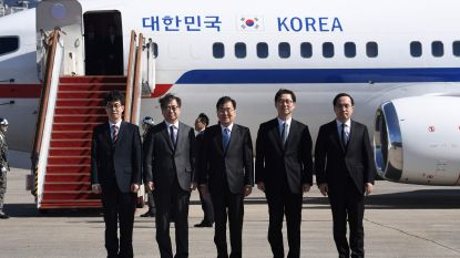 Zuid-Koreaanse delegatie op bezoek in Noord-Korea voor diner met Kim Jong-un