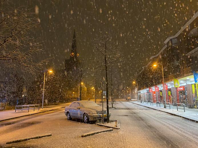 De eerste sneeuw is gevallen in Den Haag