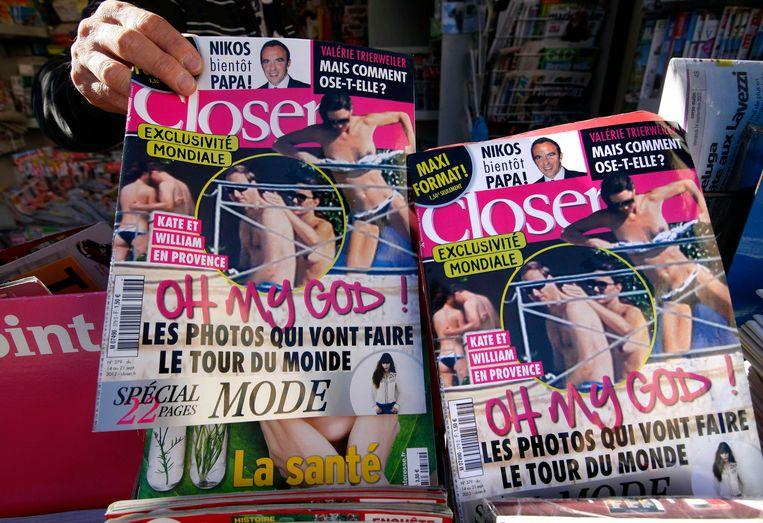 Op verschillende beelden, die genomen werden met een telelens, was Kate Middleton topless te zien.