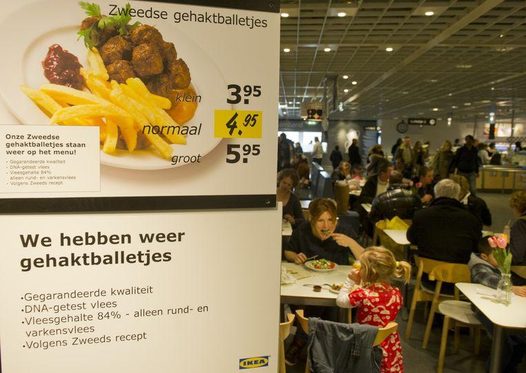 De gehaktballetjes van Ikea. Beeld ANP