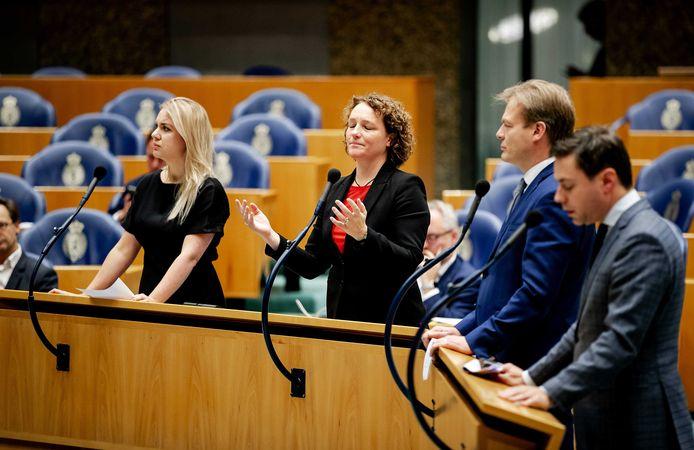 SP-Kamerlid Renske Leijten kreeg onvoldoende steun om nog voor de kerst een debat te houden over de zwartegelakte passages in het toeslagdossier.