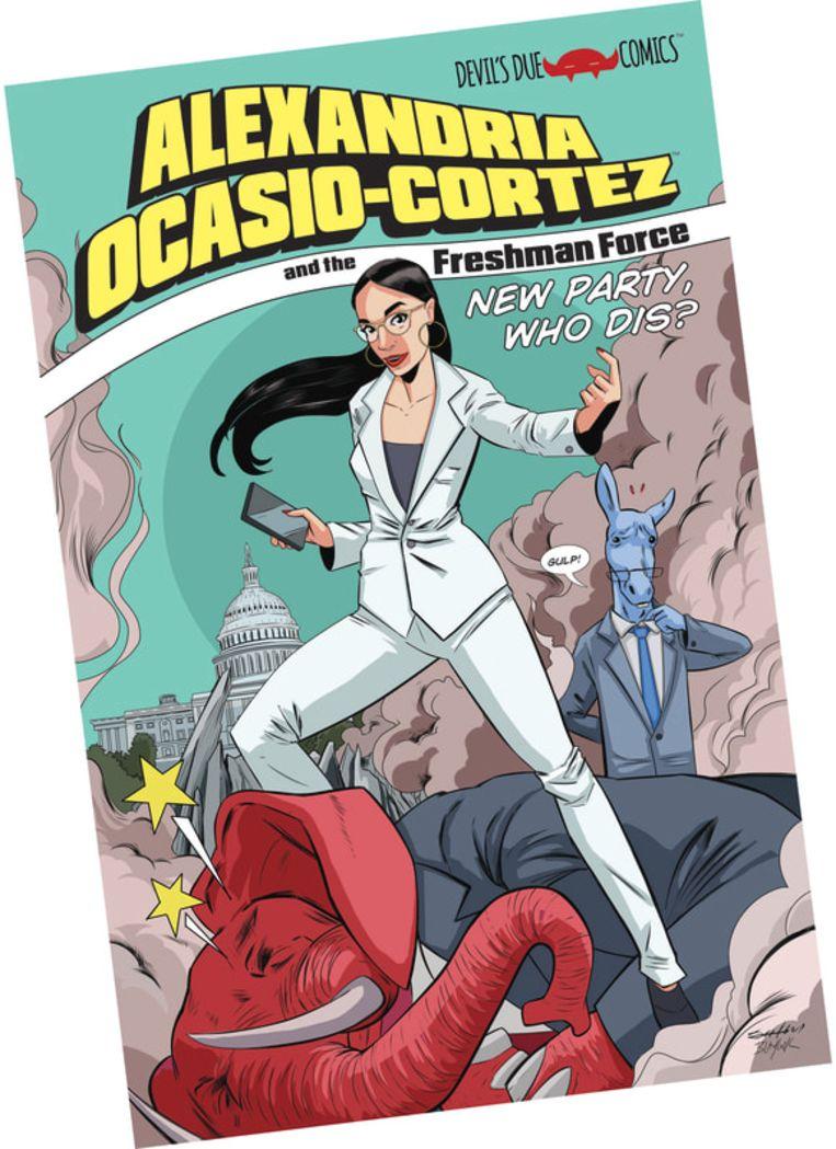 Alexandria Ocasio-Cortez stripverhaal. Beeld
