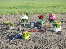 Gedenkplek voor overleden vrachtwagenchauffeur Schipluiden