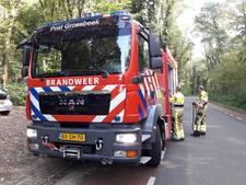 Brandweer 'blust' bosbrand in Berg en Dal met spades