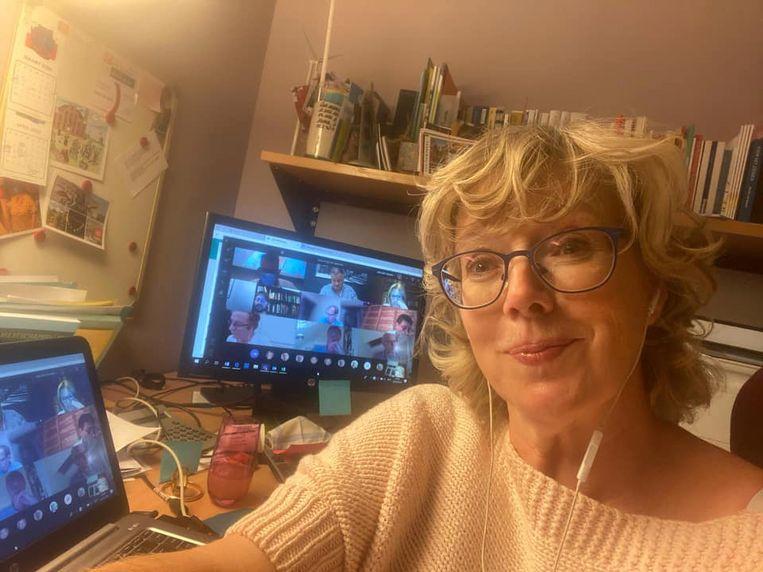 De digitale gemeenteraad van Sint-Truiden van maandagavond.