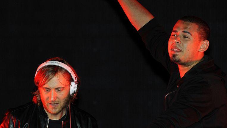 Afrojack met David Guetta. Beeld getty