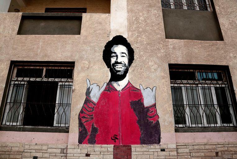 Een muurschuldering van Salah in Nagrig.